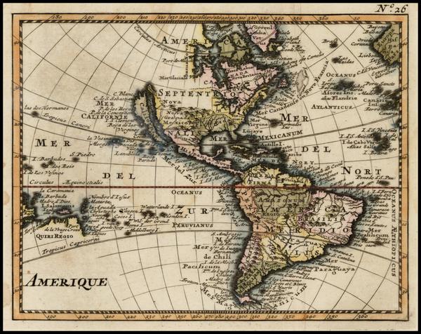 65-Western Hemisphere, South America, Australia & Oceania, Oceania and America Map By Anonymou