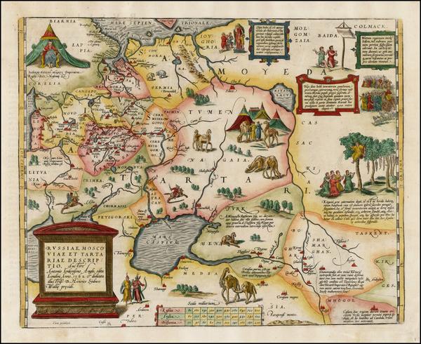 3-Russia, Ukraine, India, Central Asia & Caucasus and Russia in Asia Map By Abraham Ortelius