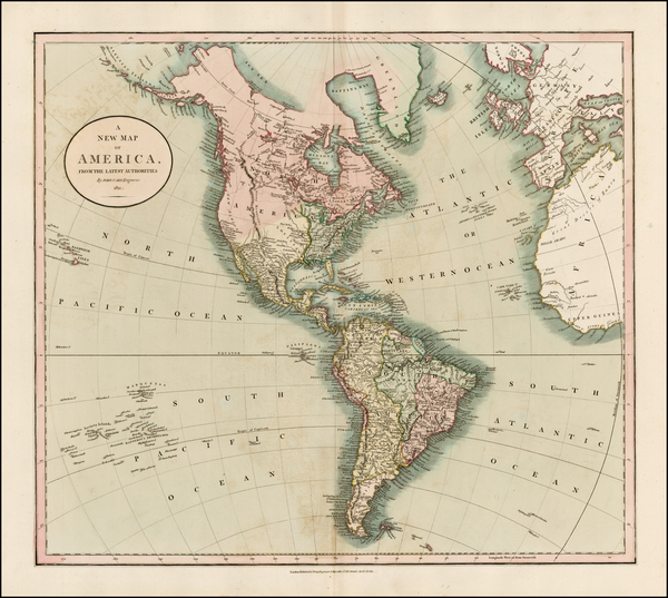 10-South America and America Map By John Cary