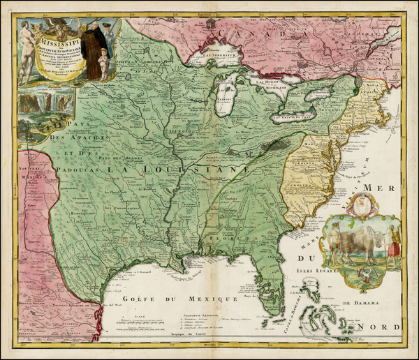 12-United States, South, Southeast, Texas, Midwest, Plains and Southwest Map By Johann Baptist Hom