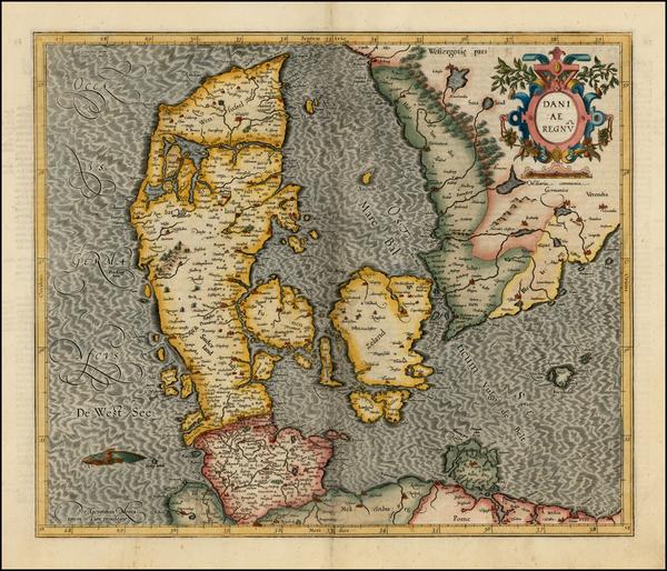 67-Scandinavia Map By Gerhard Mercator