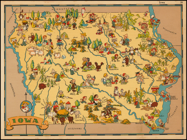 21-Midwest and Plains Map By Ruth Taylor White