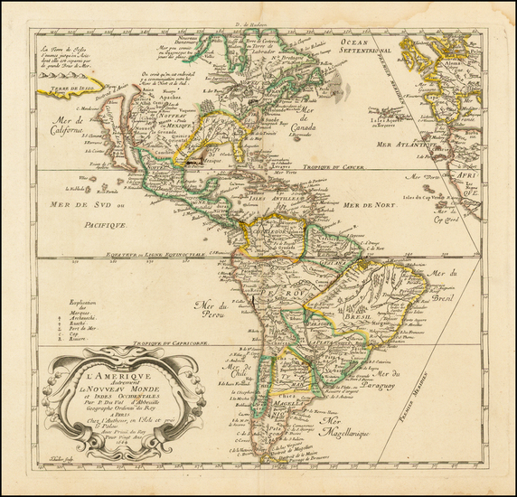 76-South America and America Map By Pierre Du Val