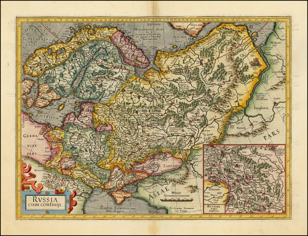 31-Russia, Baltic Countries, Balkans, Scandinavia and Russia in Asia Map By Gerard Mercator