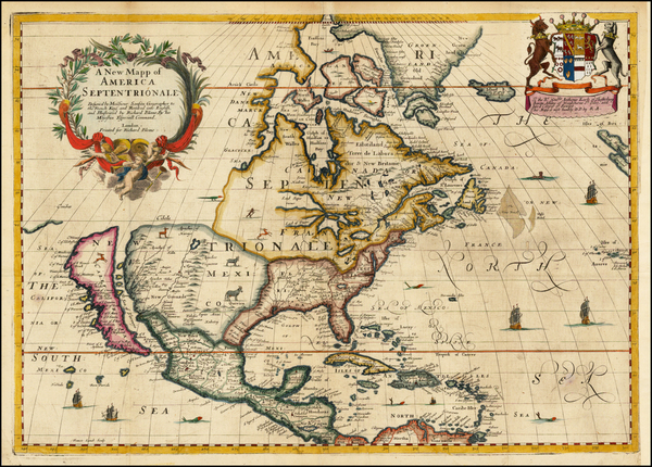 95-North America and California Map By Richard Blome