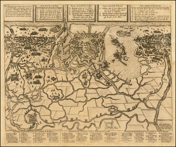 88-Belgium Map By Johannes Baptista Vrients