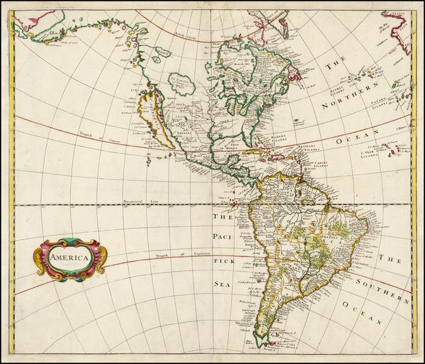 68-South America and America Map By Robert Morden