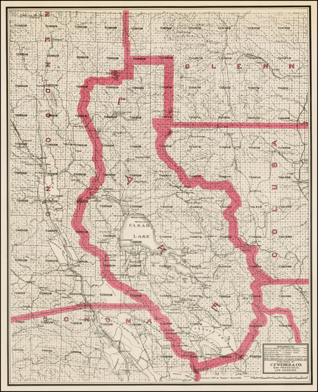 92-California Map By Punnett Brothers