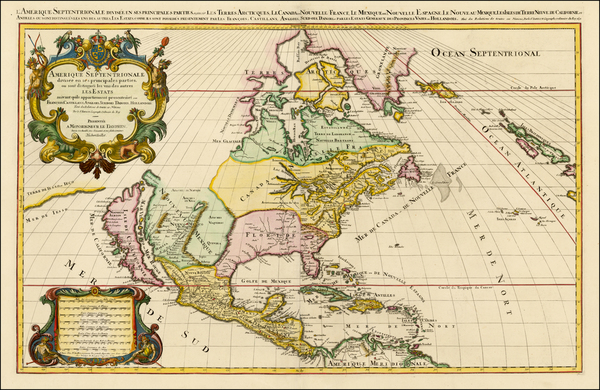 66-North America and California Map By Alexis-Hubert Jaillot