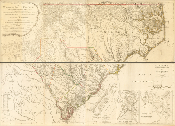 82-Southeast and American Revolution Map By George Louis Le Rouge / Henry Mouzon