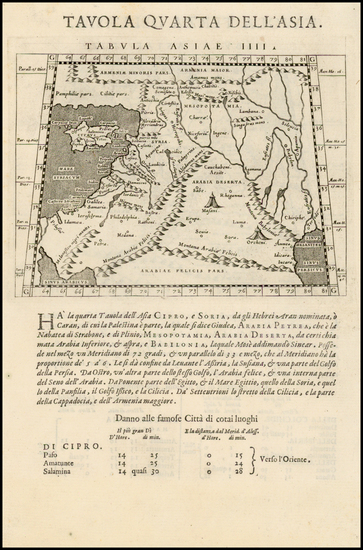 19-Other Islands, Middle East, Holy Land and Turkey & Asia Minor Map By Giovanni Antonio Magin