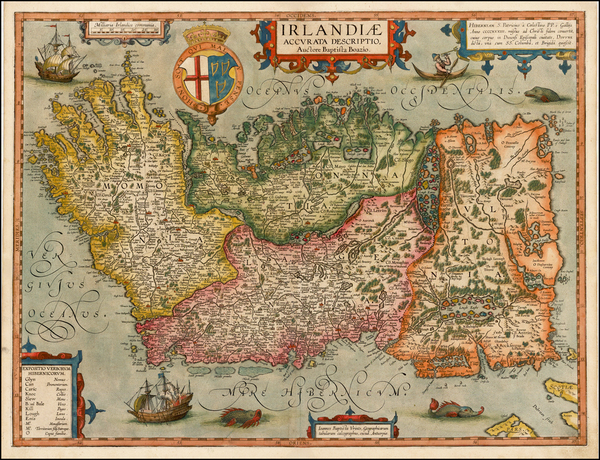 77-British Isles, Ireland and Balearic Islands Map By Abraham Ortelius / Johannes Baptista Vrients