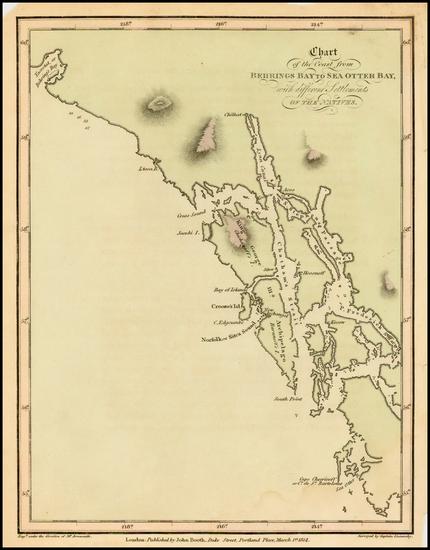 40-Alaska Map By Aaron Arrowsmith / Yuri Federovich Lisiansky