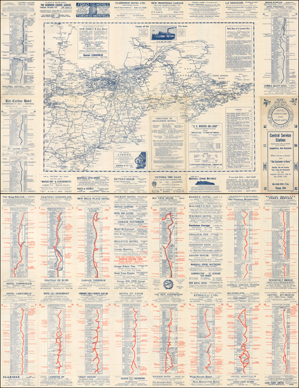 New England and Canada Map By EZE Road Maps