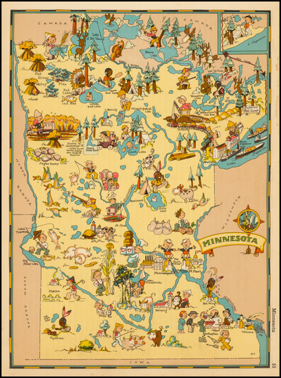 96-Midwest Map By Ruth Taylor White