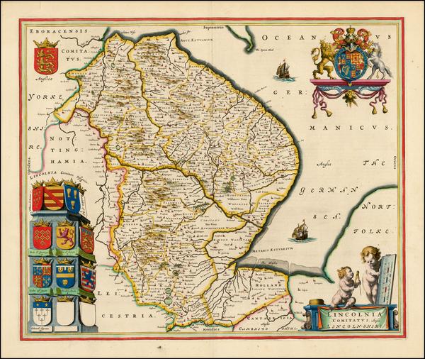 10-British Isles and British Counties Map By Johannes Blaeu