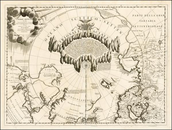 71-Polar Maps, Canada, Russia and Scandinavia Map By Vincenzo Maria Coronelli
