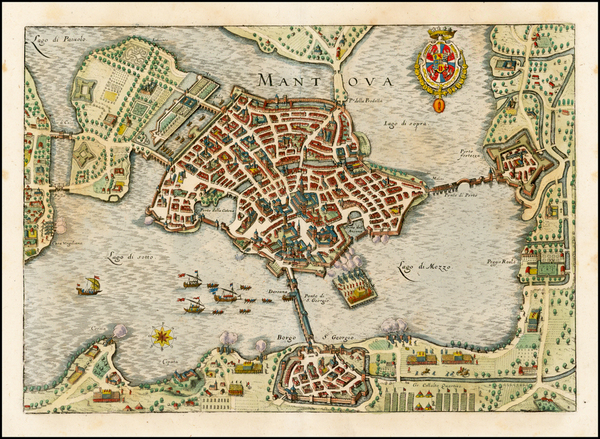 38-Italy, Northern Italy and Other Italian Cities Map By Matthaus Merian