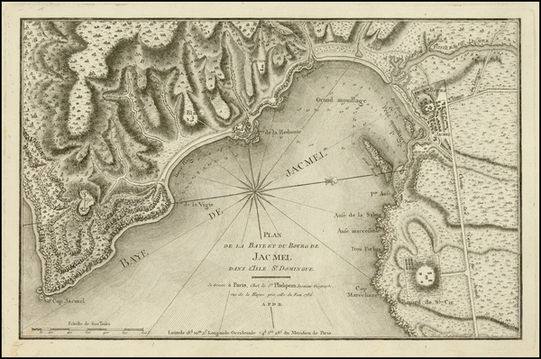 11-Caribbean and Hispaniola Map By Rene Phelippeaux
