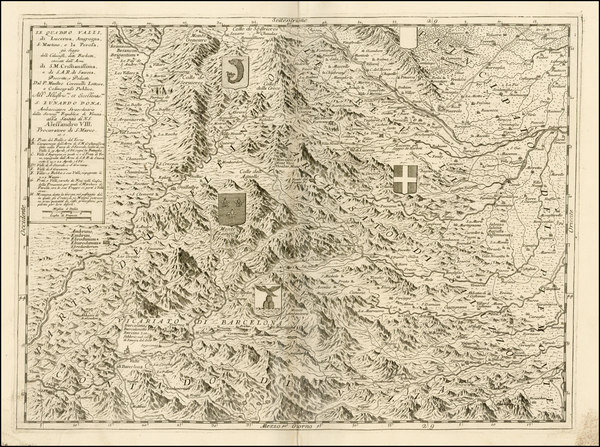 82-France, Italy and Northern Italy Map By Vincenzo Maria Coronelli