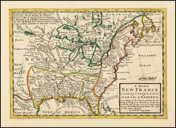 44-United States, Midwest and Plains Map By Herman Moll