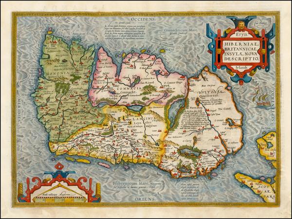 83-Ireland Map By Abraham Ortelius