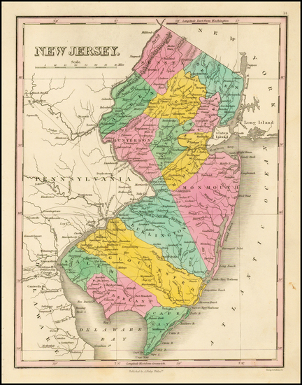 62-New Jersey Map By Anthony Finley