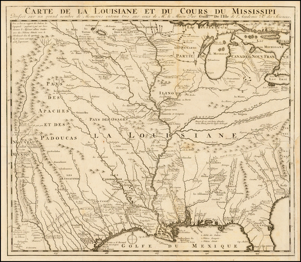 37-South, Southeast, Texas, Midwest, Plains, Southwest and Rocky Mountains Map By J.F. Bernard