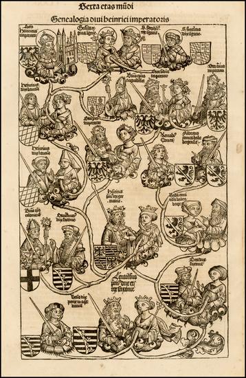 63-Curiosities Map By Hartmann Schedel