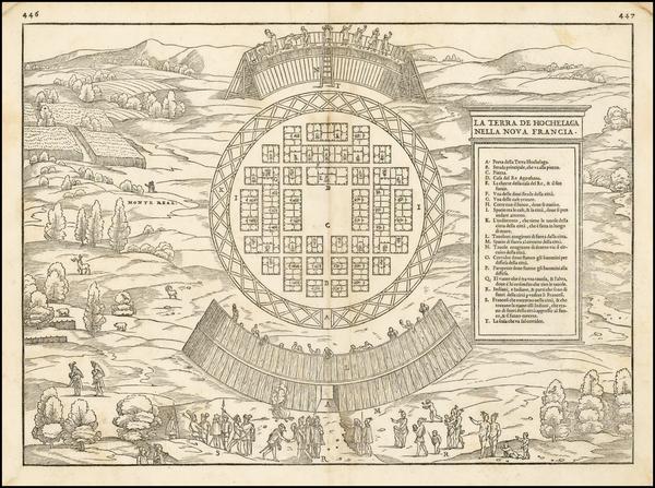 84-Canada Map By Giovanni Battista Ramusio
