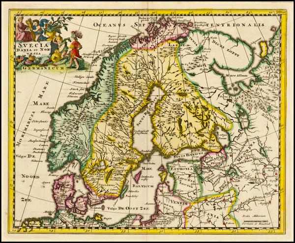 44-Scandinavia Map By Philipp Clüver