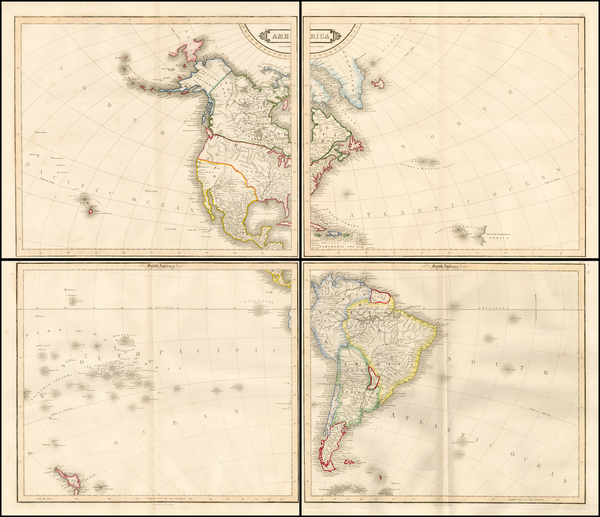 85-South America and America Map By W. & D. Lizars