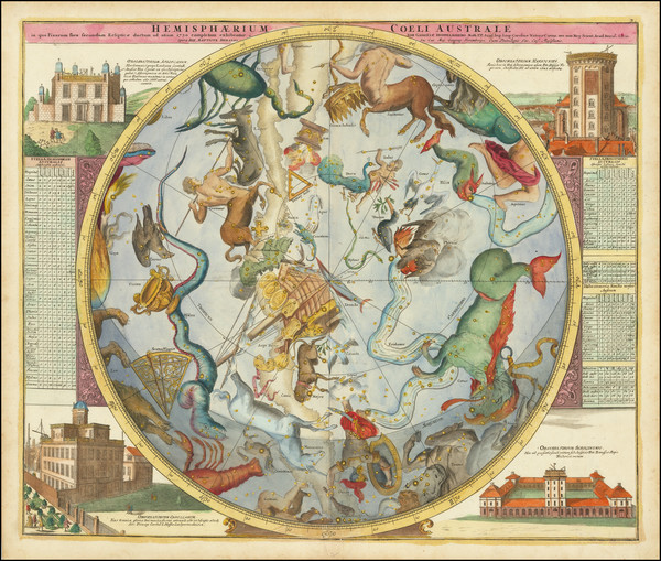 21-Celestial Maps Map By Johann Gabriele Doppelmayr