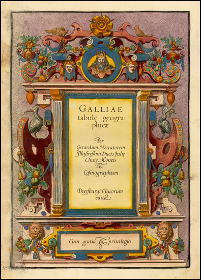 56-Title Pages Map By Gerard Mercator