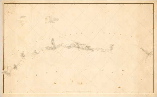 67-Southeast Map By United States Coast Survey