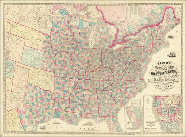 93-United States Map By Schonberg & Co.