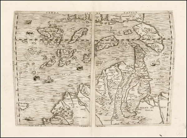 96-China, Japan, Southeast Asia and Other Islands Map By Ferrando Bertelli