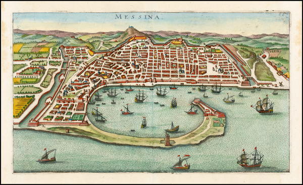 98-Italy, Southern Italy, Other Italian Cities and Sicily Map By Matthaus Merian