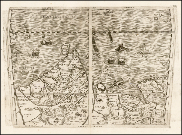85-Indian Ocean, India, Other Islands, Central Asia & Caucasus and Middle East Map By Ferrando