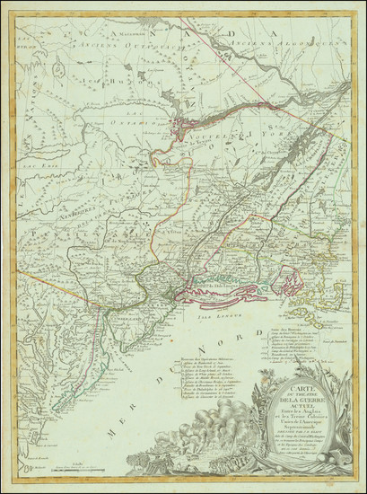 83-United States, New England and Mid-Atlantic Map By J.B. Eliot / Louis Joseph Mondhare
