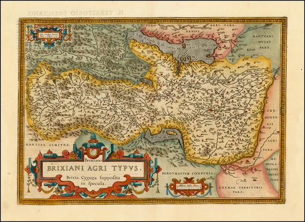 31-Italy Map By Abraham Ortelius