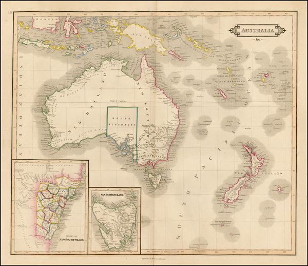 35-Australia & Oceania, Australia, Oceania, New Zealand and Other Pacific Islands Map By Danie