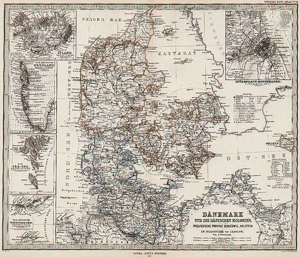 36-Europe and Scandinavia Map By Adolf Stieler  &  Augustus Herman Petermann