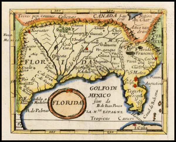 27-Florida, South and Southeast Map By Johann Hoffmann