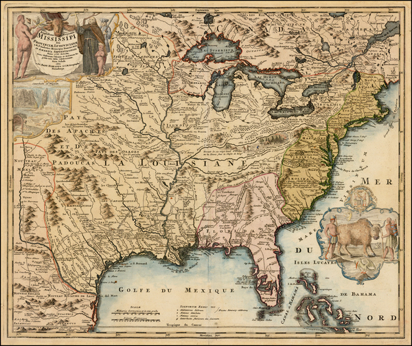 58-United States, South, Southeast, Texas, Midwest, Plains and Southwest Map By Johann Baptist Hom