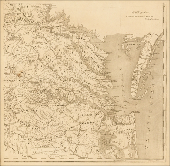 46-Virginia Map By Frederick Bossler / Bishop James Madison