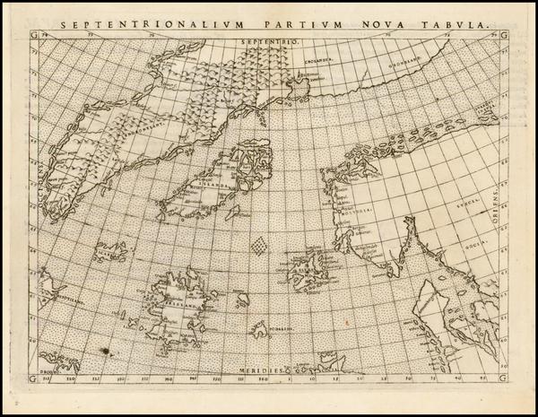 13-Polar Maps, Atlantic Ocean, Scandinavia and Balearic Islands Map By Girolamo Ruscelli