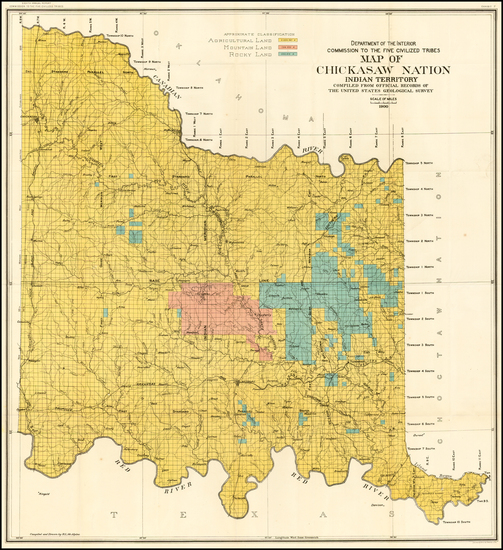 7-Plains and Oklahoma & Indian Territory Map By U.S. Geological Survey
