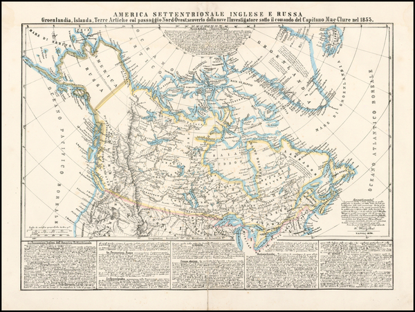 80-Polar Maps, Alaska and Canada Map By Benedetto Marzolla