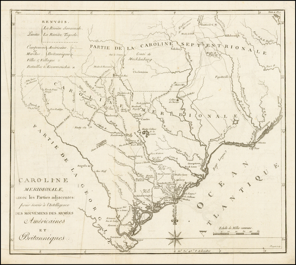 38-Southeast and South Carolina Map By Charles Picquet